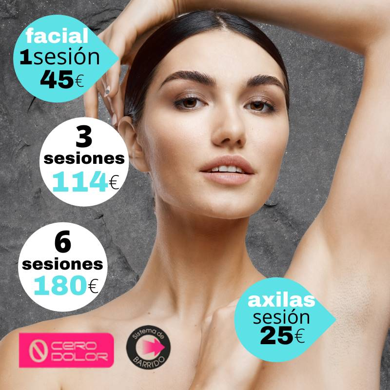 Precios bonos depilación laser mujer en Pamplona - Facial